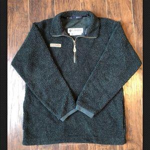 Columbia Sherpa Fleece Quarter Zip Med Vintage